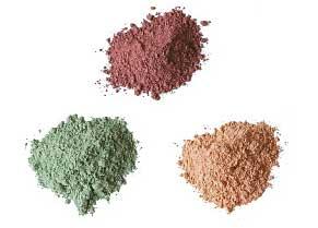 Pigmentos inorgánicos: muestras