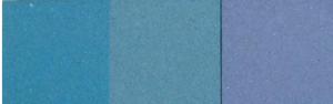 hormigón pigmentado en azul